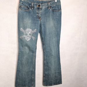 Womens Jeans 8 With Skull Embellishments